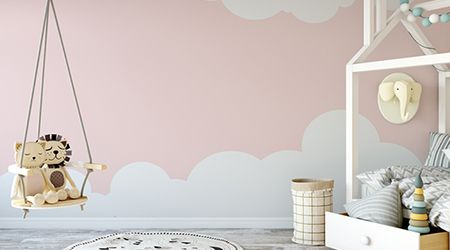 5 beautiful ideas to decorate your child s nursery in - Peinture chambre fille rose violet ...