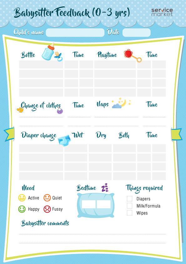 feedback forms for your babysitter in dubai the home project