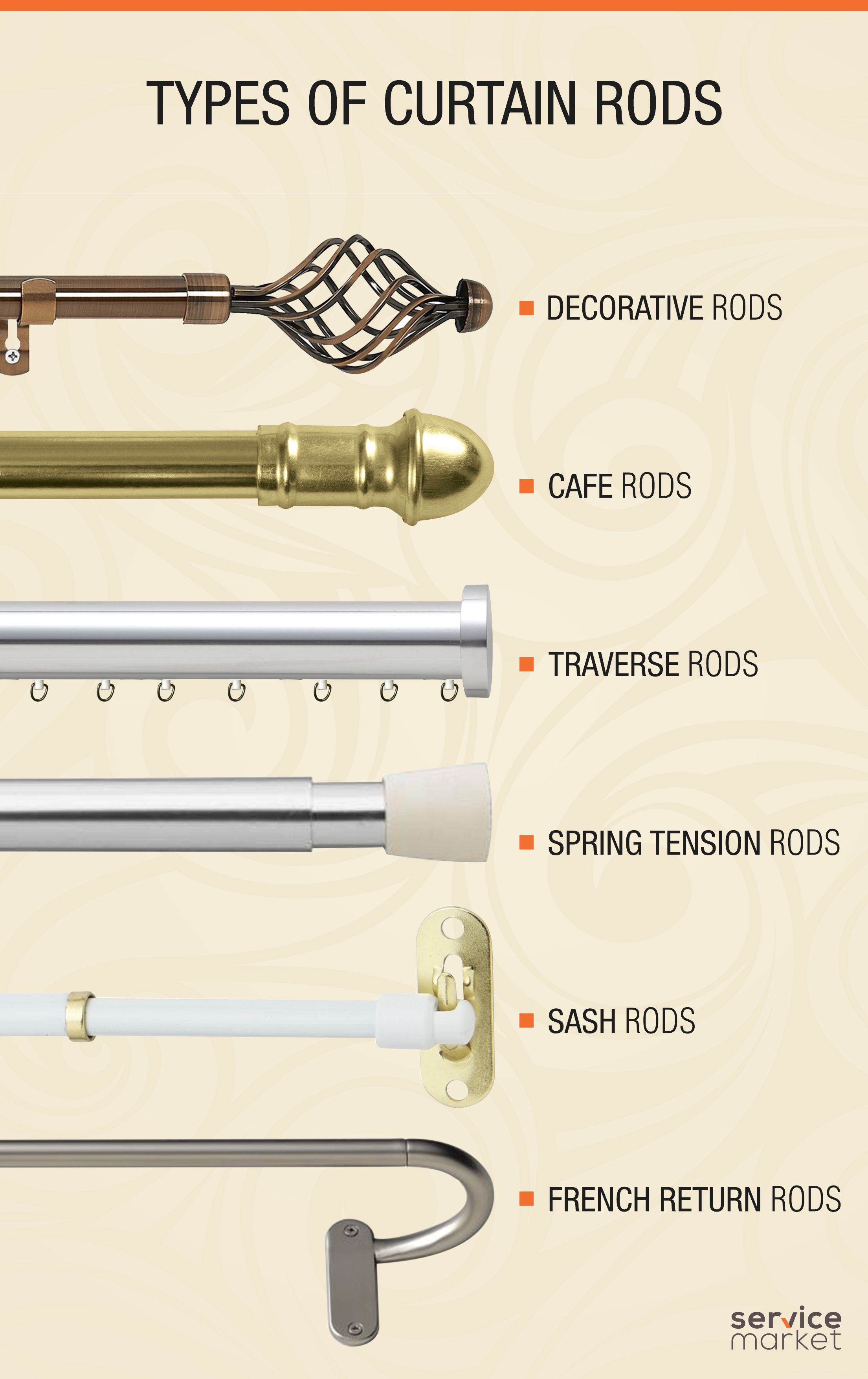 types of curtain rods Types of Curtain Rods   The Home Project | ServiceMarket types of curtain rods